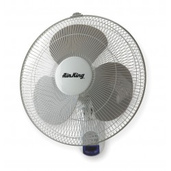 Air King - 9046 - Air King 9046 Wall Mount Fan - 16 Diameter - 3 Speed - Oscillating, Remote, Adjustable Tilt Head, Timer-off Function, Durable - Steel, Plastic