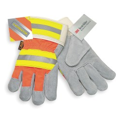 Memphis Glove - 1440L - Cowhide Leather Palm Gloves with Safety Cuff, Gray, L