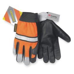 Memphis Glove - 921M - Leather Gloves, Grain Cow Palm Material, Hi-Visibility Orange, M, PR 1