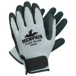 Memphis Glove - 9688VL - Large Flex Plus Gray W/blk Late
