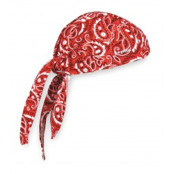Ergodyne - 12479 - Ergodyne Red Western Chill-Its 6615 Fabric High Performance Dew Rag