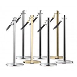 Lawrence Metal Products - 310U-1P-NOT - Urn Top Rope Post, Polished Chrome, Polished Chrome Post Finish, 36-1/2 Height