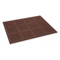 Apex Tool - T11S3929RD - Interlocking Drainage Mat, Nitrile, Red, 2 ft. 5 x 3 ft. 3, 1 EA