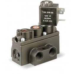 Ingersoll-Rand - A212SS-120-A - 1/4 120VAC 4-Way, 2-Position Solenoid Air Control Valve