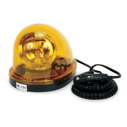 Grote - 76033 - Rotating Beacon, Yellow, Mag, Incandescent