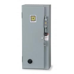 Square D - 8538SBA21V02S - NEMA Non-Fusible Combination Starter, 600VAC Max. Motor Voltage, 18 Amps AC, 120VAC Coil Volts