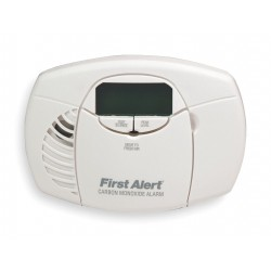 First Alert - CO410B - Carbon Monoxide Alarm with 85dB @ 10 ft., Chirp Audible Alert; (2) AA