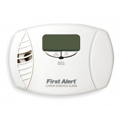 First Alert - CO615B - Carbon Monoxide Alarm with 85dB @ 10 ft., Beep Audible Alert; 120VAC, (2) AA