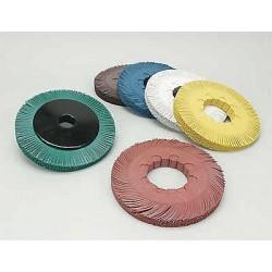 Scotch-Brite - 33129 - 7-5/8 Radial Bristle Brush, Curved Bristles, 1 Face Width, 80 Grit, Ceramic, Package Quantity 2