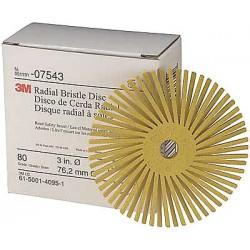 Scotch-Brite - 24277 - 3 Radial Bristle Disc, Clean and Deburr, Quick Change, 80 Grit, Package Quantity 40