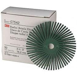 Scotch-Brite - 24279 - 3 Radial Bristle Disc, Clean and Deburr, Arbor, 50 Grit, Package Quantity 40