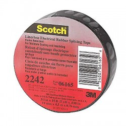 3M - 130C-1-1/2X30FT - Black Rubber Electrical Tape, 1-1/2 Width, 30 ft. Length, 30.00 mil Thickness