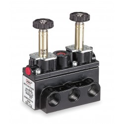 Ingersoll-Rand - A712SD-000-N - 1/4 No Coil 4-Way, 3-Position Solenoid Air Control Valve