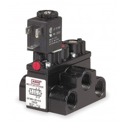 Ingersoll-Rand - A213SS-120-A - 3/8 120VAC 4-Way, 2-Position Solenoid Air Control Valve