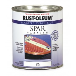 Rust-Oleum - 207008 - Clear Spar Varnish, Clear Finish, 125 to 500 sq. ft./gal. Coverage, Size: 1 qt.
