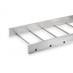 Allied - 1B48-24SL-12-09 - 12 ft. Aluminum Ladder Tray, 75 lb. per ft., 12 ft. Span Capacity