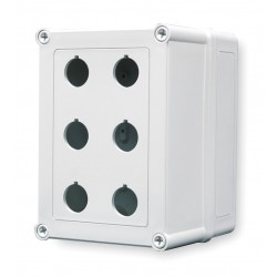 GE (General Electric) - VM755-PBM6 - Pushbutton Enclosure, 4X NEMA Rating, Number of Columns: 2