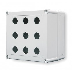 GE (General Electric) - VM775-PBM9 - Pushbutton Enclosure, 4X NEMA Rating, Number of Columns: 3