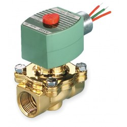 Red Hat - 8030G003 - 120VAC Brass Solenoid Valve, Normally Closed, 3/4 Pipe Size