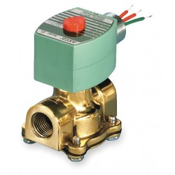 Red Hat - 8030G083 - 120VAC Brass Solenoid Valve, Normally Open, 3/4 Pipe Size