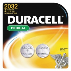 Duracell - DL2032B2PK - Lithium Coin Cell, Voltage 3, Battery Size 2032, 2 PK