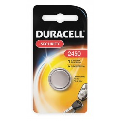 Duracell - DL2450BPK - Lithium Coin Cell, Voltage 3, Battery Size 2450, 1 EA