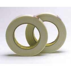 "3M - 46 - Scotch Strapping Tape - 0.75"" Width x 25 ft Length - Rubber Resin - Dispenser Included - 1 Roll"