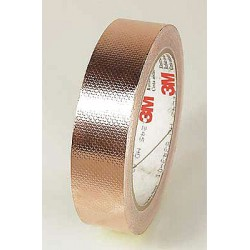 3M - 1245 - EMI Embossed Copper Shielding Tape, 1/2 x 18 Yards (MOQ=18)