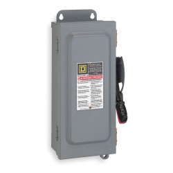 Square D - HU364A - Safety Switch, 12 NEMA Enclosure Type, 200 Amps AC, 125 HP @ 600VAC HP