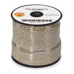 Tempco - LDWR-1011 - 100 ft., 600VAC High Temperature Lead Wire with MG Cable Type and 18 AWG Wire Size, Natural