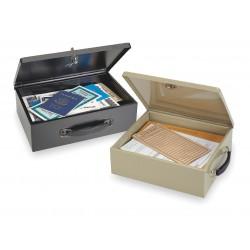 MMF Industries - 2216140B04 - Security Box, Black, 12-3/4x8-1/4x4