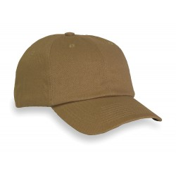 Fibre-Metal - SBC2KI - Khaki Cotton With Thermoplastic Inner Shell Vented Bump Cap, Style: Baseball Style, Fits Hat Size: O