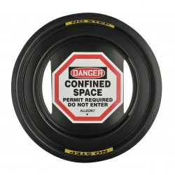 Allegro - 9400-24 - Confined Space Manhole Sign 24 In Dia Polycarbonate Allegro, Ea