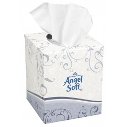 "Georgia Pacific - 46580 - Georgia-Pacific Angel Soft ps Facial Tissue Box - 2 Ply - 8.80"" x 7.60"" - White - Soft, Absorbent - 96 Sheets Per Box - 36 / Carton"