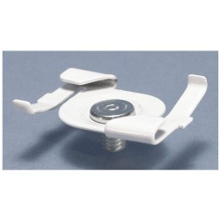 Pentair - 4G8WH - Caddy Mounting Clip - 25 lb Load Capacity - Steel - White