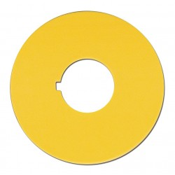 Omron Scientific Technologies - 11001-6115 - 16mm Round Blank Legend Plate, Plastic, Yellow