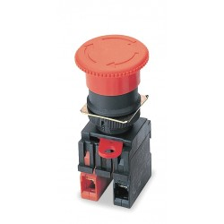 Omron Scientific Technologies - 11004-7002 - Emergency Stop Push Button, Type of Operator: 40mm Mushroom Head, Size: 22mm, Action: Maintained Pus