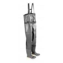 Onguard - 860670633 - Men's Steel Toe, PVC Chest Waders, Black/Tan, Sz 6