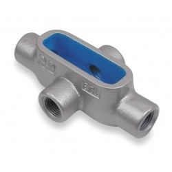 Thomas & Betts - X67 - X-Style 2 Conduit Outlet Body, Threaded Iron, 52.8 cu. in.