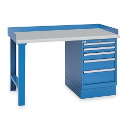 Lista - XSWB23-72PT/BB - Workbench, Laminate, 30 Depth, 35-1/4 Height, 72 Width, 1000 lb. Load Capacity