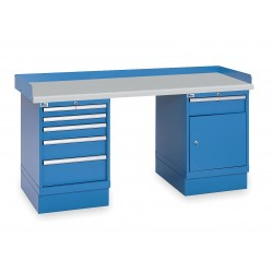Lista - XSWB53-72PT/BB - Workbench, Laminate, 30 Depth, 35-1/4 Height, 72 Width, 1000 lb. Load Capacity