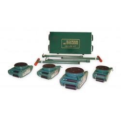 Hilman Rollers - KNRS-12-SLP - 10-kn12 12ton Nyton Deluxe Kit W/case & Sw