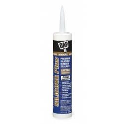 Dap - 08771 - Silic Plus Wndw&door Rubber Seal.clear 10.1fl.oz