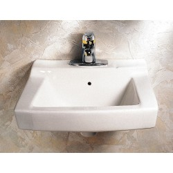 "American Standard - 0321026.020 - Vitreous China Wall Bathroom Sink Without Faucet, 14-1/4"" x 10-3/4"" Bowl Size"