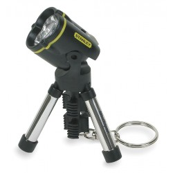 Stanley / Black & Decker - 95-113X - Bostitch Mini Tripod Keychain LED Flashlight - Aluminum - Black