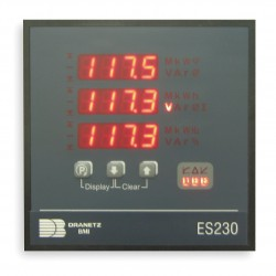Dranetz - ES2305A - Digital Panel Meter, Power and Energy