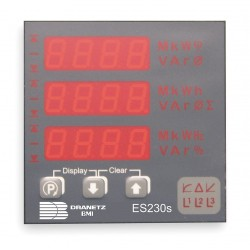 Dranetz - ES230S5AE - Digital Panel Meter, Power and Energy