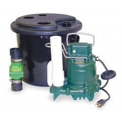 Zoeller - 105-0001 - 3/10 HP Sink Drain Pump System, 9.7 Amps, 115 Voltage, Basin Capacity: 5.0 gal.