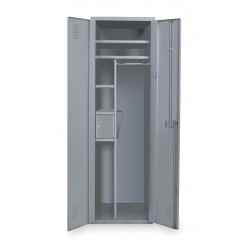 Hallowell - HERL442-1G-HG - High Security Wardrobe Locker, Assembled, One Tier, 24 Overall Width
