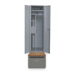 Hallowell - HERL442-1B-G-HG - High Security Wardrobe Locker, Assembled, One Tier, 24 Overall Width